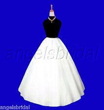 A-LINE HOOPLESS BRIDAL WEDDING GOWN PROM DRESS PETTICOAT CRINOLINE SKIRT SLIP