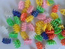 LOT 20 PINCES CRABE fleur CHEVEUX BARRETTE couleur de 2 cm enfant neuf réf 61