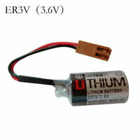 1pc Toshiba ER3V 3.6V LI-SOL2 PLC Lithium Battery 1200mAh with Brown Plug New