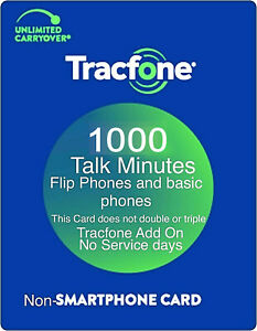 TracFone 1000 Talk Minutes Add On Refill Card for Basic Phones and Flip Phones