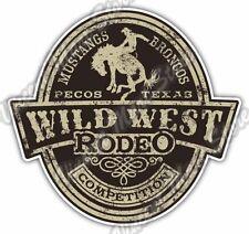 "Wild West Rodeo Mustang Broncos Car Bumper Window Vinyl Sticker Decal 4""X5"""