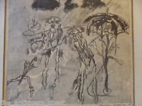 """Bertram Goodman """"Rainy"""" Etching. Pencil signed and dated 1951 lower right"""