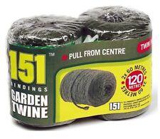 Nuevo paquete de servicio pesado 2 Jardín Natural Cordel de Yute gruesa para las plantas y la jardinería