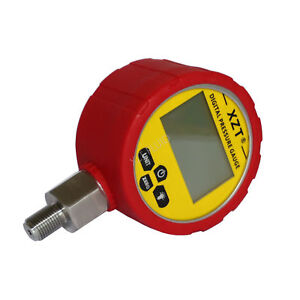 "XZT 3.15"" Digital Hydraulic Pressure Gauge 700BAR/10000PSI & Red Boot protector"