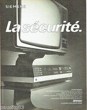 PUBLICITE ADVERTISING 106  1983  Siemens  magnétoscope  vidéo 2000 hi-fi tv