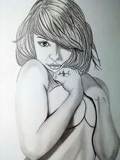 Aktzeichnung #220 Akt Erotik Handzeichnung female Nude Drawing femme nu dessin