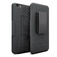 For iPhone SE 5S 5C 5 Hard Slim Holster Case Combo Kickstand Black Swivel Clip