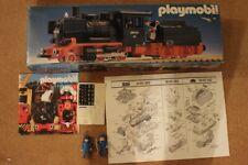 Playmobil klicky 4052 locomotive noire boite notice flyer vintage  ******