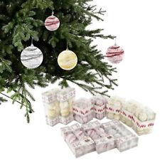 set da 100 PALLE DI NATALE sfere natalizie abete con fili laminati diametro