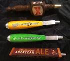4 Rare Vintage Budweiser Bud Light Lime Ale Wood Metal Tap Handle Man Cave Bar
