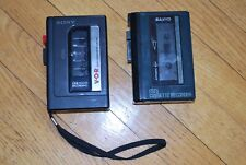 2 Vintage Mini cassette recorders Sony Tcm-23V Sanyo M1012A Parts Not Working