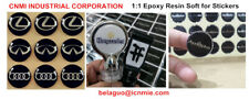 EPOXY RESIN CRYSTAL CLEAR COATING  DOMING USE FOR CUSTOM DOMED STICKERS 10 ML