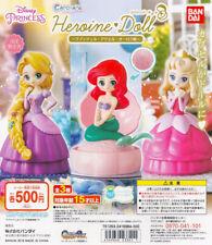 Bandai Disney Princess Capchara Heroine Doll Gashapon Rapunzel Ariel Aurora 3pcs