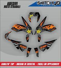 KIT ADESIVI GRAFICHE ROCKSTAR BLACK x KTM DUKE 690 III 2012-2016 DECALS DEKOR