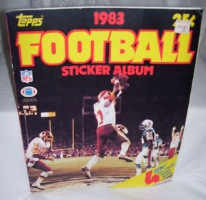 Topps Football Sticker Album 1983 Partially Completed