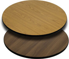 "Flash Furniture 36"" Round Table Top w/Natural or Walnut Reversible Laminate Top"