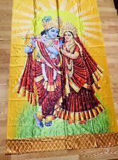 Radha Krishna ISKCON wall hanging/curtain/photo backdrop/Panel HINDU Temple USA