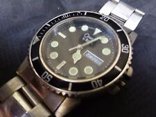 "BULOVA CARAVELLE Submariner ULTIMATE DIVER Day Date ""Superman"" DIVE Watch AS IS"
