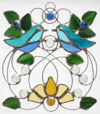 Blue Stained Glass Art Glassware
