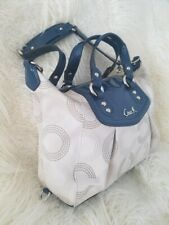 Coach Ashley Dotted Signature Satchel Shoulder Bag F20027 Blue