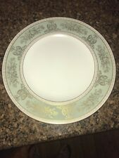 """Wedgwood Gold Columbia Sage Green Gold Trim 10 3/4"""" Dinner Plate"""