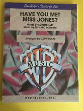 Have You Met Miss Jones?, Rodgers&Hart, arr. Dave Wolpe, Big Band Arrangement