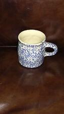 Blue and White Spongeware Mug - Roseville,Ohio