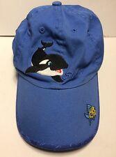 Shamu Sea World Blue Cap Hat Youth Size Adjustable 100% Cotton