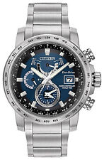 Citizen Eco-Drive Perpetual Calendar World Time A-T Wrist Watch AT9070-51L Alarm