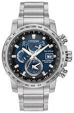 Citizen Eco-Drive Perpetual Calendar World Time A-T Wrist Watch AT9070-51L Alarm