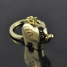 Hot Funny Elephant Gold Keychain Keyring Key Charm Keyfob Gift Souvenir
