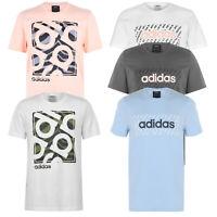 Adidas Herren T-Shirt Print Logo Shirt Baumwolle Street Wear S-XXL QT1104