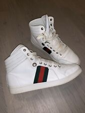 Gucci men  TRAINERS  shoes  hi tops 100 % authentic Size in photos ultra rare
