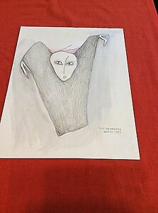 BEATRICE WOOD  Watercolor  SIGNED  Original  THE BETRAYED   SIGNED   BEATO  1993