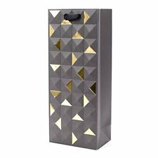 Hallmark Signature Bottle Gift Bag (Black and Gold Emboss) FREE2DAYSHIP TAXFREE