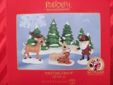 Meeting Santa Figurine Set Dept 56 2014 rudolph misfit toys New