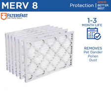 "Filters Fast 1"" Home Air Filters Merv 8 - Case of 6 Filters 6-18 Month Supply"