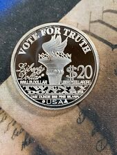 1-OZ.999 SILVER  COIN ABOLISH THE FEDERAL RES RON PAUL LIBERTY CAMPAIGN GOLD