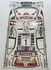 1/10- Scale DECAL/STICKER SHEET-RC MODEL CAR-Tamiya/hpi/Mitsubishi WRC/Rally Art