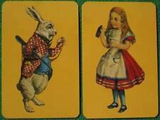 """Alice in Wonderland"" White Rabbit & Drink Me Swap Cards Tenniel Art Piatnik WOW"
