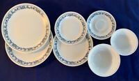9pc Corelle Corning OLD TOWN BLUE Onion 2 Dinner Plates 1 salad 1 dessert (MORE)