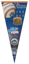 New York Mets 2-TIME WORLD SERIES CHAMPS Huge 17x40 Premium Felt PENNANT
