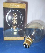 60w BC BAYONET CAP B22 ANTIQUE VINTAGE SPIRAL FILAMENT GLOBE BULB LAMP