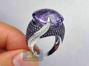 925 Silver Turkish Handmade White Sapphire Rings Women Wedding Jewelry Size 6-10