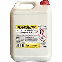 Italchimici acido cloridrico muriatico 5 lt puro  disincrostante per calca