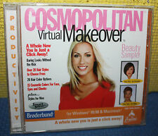 Cosmopolitan Virtual Makeover PC Mac Jewel Case CD-ROM