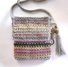 The Sak Casual Classics Flap Cross-body  Festi Stripe Crochet NWT