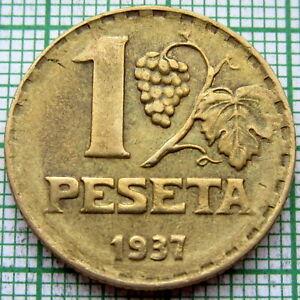 SPAIN REPUBLIC 1937 PESETA, RUBIO