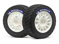 #113850 HPI WR8 RALLY OFF-ROAD WHEEL/TIRE SET WHITE/2PCS [1/8 On-Road Tyres]