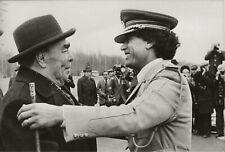 Vintage Press Photo,Qadhafi meets Brezhnev,Agence Sygma,1981